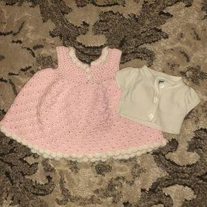 Custom Handmade Newborn Crocheted Dress